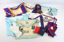 More details for 14 x assorted vintage masonic regalia inc. jewels, aprons, collars, gloves etc