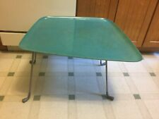 French 1980's AXIS Biomorphic Turquoise 2 Piece Table By Jean Pierre Boutillier