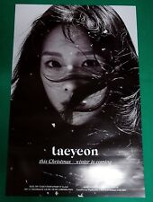 Taeyeon - This Christmas : Winter Is Coming SNSD Official Unfolded Poster NEW