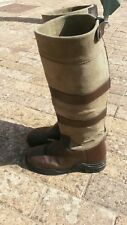 THE CAVALRY COLLECTION  LEATHER AND SUEDE EQUESTRIAN RIDING BOOTS UK SIZE 4