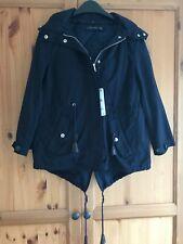 Zara Navy Parka Jacket Fur Collar size S BNWT rrp £59.99