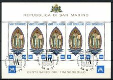 Sheet Sammarinese Stamps