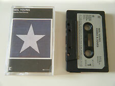 NEIL YOUNG HAWKS AND DOVES CASSETTE TAPE 1980 PAPER LABEL WARNER REPRISE