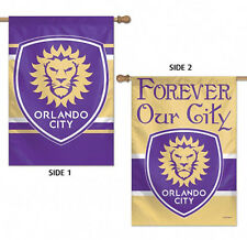 """Orlando City Double Sided MLS House Flag Licensed Soccer 28"""" X 40"""""""