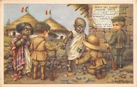 Cartolina - Illustrata- Bertiglia - Etiopia - Balilla e indigeni  - no Schiavitù