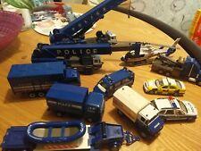 Police cars vans trucks cranes helicopter die cast vehicles joblot ex condition
