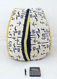 Vintage Kantha Bean Bag Chair Slipcover and insert Indian decorative pouf BD82