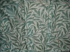 "WILLIAM MORRIS CURTAIN FABRIC ""Willow Bough's Major Voile"" 3.8 METRES GREEN"