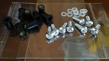 Ducati 1098 848 1198 VITI CARENE ergal 8pz e GOMMINI FISSAGGIO e RONDELLE protez