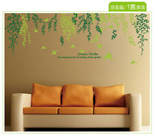 Decals Arts willow tree leaf removable print diy wall sticker