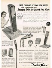 1959 Electro-Voice Microphones Model 729 Cardiod and others Vtg Print Ad