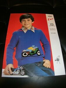 Emu Double Knit Childrens Motorcycle Jumper Six Sizes