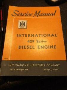 IH Farmall Mccormick International 429 Diesel Engine Service Manual ISS-1503