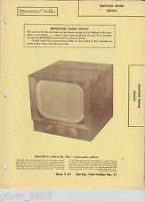 Sams PhotoFact Tv Truetone Models 2D2053