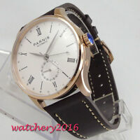 42mm PARNIS White Dial Rose Golden Case ST 1690 Automatic Movement men's Watches