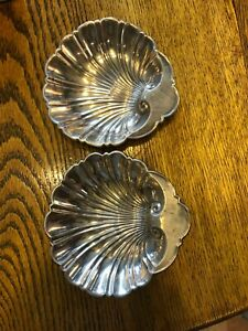2 Antique Gorham Sterling Silver #445 - 5.89 ounces shell dishes candy/trinket