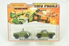 "Matchbox TP-13 Military Scout & Armoured Car ""Two Packs"" NIP 1975 Die Cast Metal"