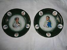 Pair of Napoleon & Josephine Antique porcelain ZS.&Co Bavaria plates