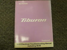 2003 Hyundai Tiburon Coupe Electrical Wiring Diagram Manual GT V6 2.0L 2.7L