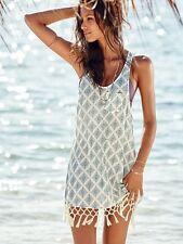 Tolles Strandkleid Minikleid Sommerkleid Kleid Gr. 36/38 Fransen