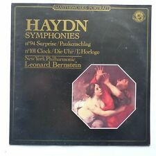 haydn sYMPHONIES 94 101 nEW yORK pHILHARMONIC leonard bernstein cbs 60267