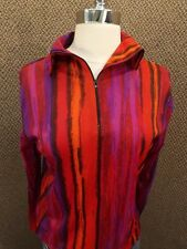 NOS NEW Original Vtg 1960s Two In One Turnabout Shirt M Celanese Jersey Zip Down