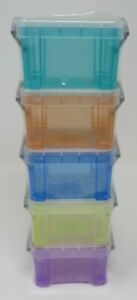 """Really Useful 6 Little Storage Boxes 6 Brand New Factory Sealed 2.5""""X1.75""""X1.5"""""""