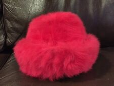 Vintage Women's Cloche Fur Hat Mousse HB Made in France Pink Fur