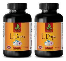 mucuna pruriens extract - L-DOPA 350mg 99% - dopamine brain food - 2 Bottles
