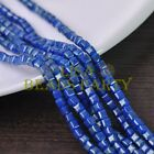 New 100pcs 4mm Cube Square Faceted Gold Foil Glass Loose Spacer Beads Deep Blue