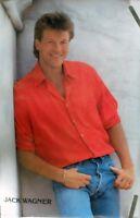 RARE JACK WAGNER 1986 VINTAGE ORIGINAL TV PIN UP POSTER