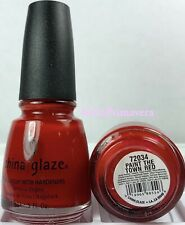 China Glaze Nail Polish Paint The Town Red 554 Bloody Glossy Red Lacquer