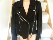 Superdry Mujer Chaqueta Negra de Cuero Real (L) Vintage Superdry jacketeens