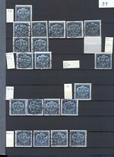 LATVIA STAMPS LOT,  LETTLAND ACCUMULATION, DIFFERENT PERFORATIONS - Mi.# 99/103