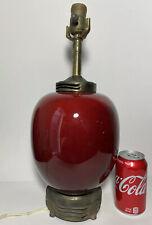 Antique Chinese Ox Blood Jar Lamp