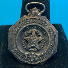 Vtg Collectible Sterling American Legion 2nd Field Day 2nd Prize Pendant Medal
