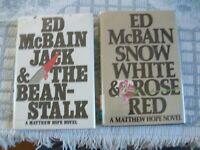 Snow White & Rose Red + Jack & The Beanstalk by Ed Mcbain (2 HCDJ 1st editions)