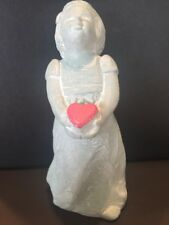 Isabel Bloom ANGEL WITH RED HEART Originally Signed Victorian Bronze Look