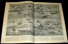 HELICOPTER HISTORY 1954 1ST FIFTY YEARS ARTWORK SPREAD ROTARY-WING PICTORIAL