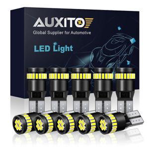 AUXITO T10 168 194 2825 White LED License Plate Side Marker Light Bulb Canbus 10