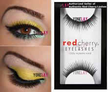 1 Pair GENUINE RED CHERRY #1 Chloe Human Hair False Eyelashes Strip Lashes