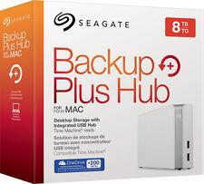 Seagate - Backup Plus Hub for Mac 8TB External USB 3.0 Portable Hard Drive - ...