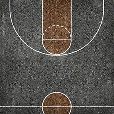 BLACKTOP COURT 12x12 Scrapbook Paper #65028 Basketball Pickup Game Asphalt
