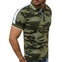 Camiseta De Camuflaje Informal Para Hombre Camisa De Manga Corta Moda De Verano