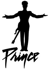 Prince Rogers Nelson Silhouette Vinyl Decal + FREE Buy 1 Get 1