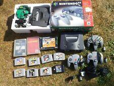 Joblot 2 x NINTENDO N64 plus 11 Games. 007 GoldenEye, Star Wars, Mario Kart, etc