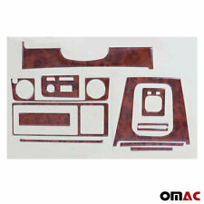 Wooden Look Dashboard Console Trim Kit 10 Pcs for BMW 3-Series E30 1988-1991