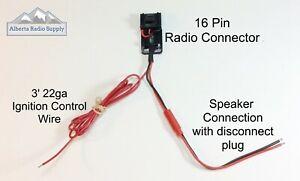 Motorola 16 Pin Speaker/Ignition Cable * 2 PACK* PRO3100 PRO5100 PRO7100 CDM1250