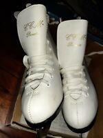 CCM Pirouette Girls Ice Skates Sz 12 White Excellent