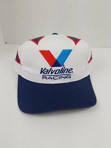 New - Valvoline Racing - White/Blue Baseball Hat Cap Adjustable Size Strap Back